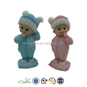 new wholesale polyresin baby birth baptism figurines souvenirs