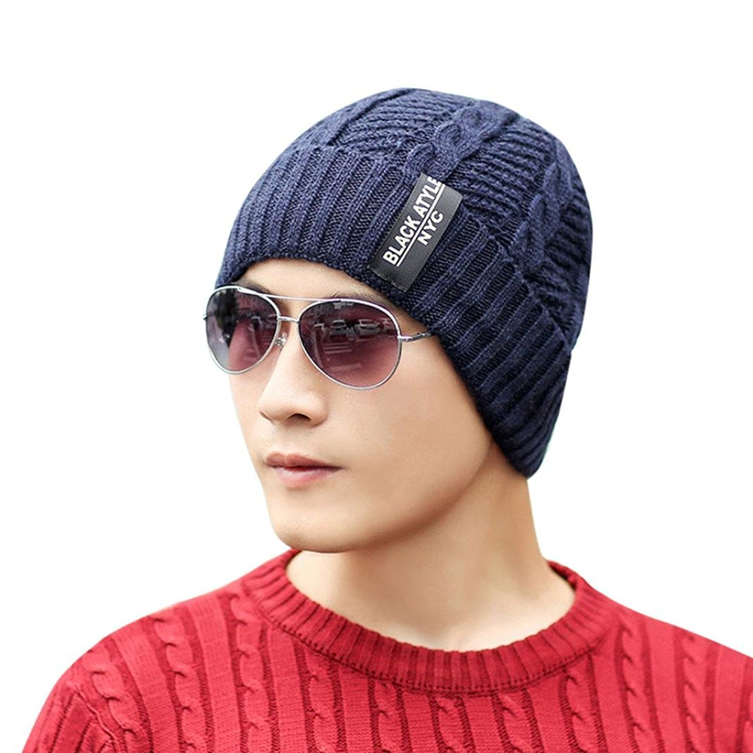 a509dfed199 Get Quotations · Hunputa Mens Hat Winter