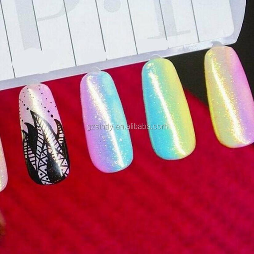 2016 nueva sirena efecto nail Glitter hadas OPAL estilo polvo DIY ...