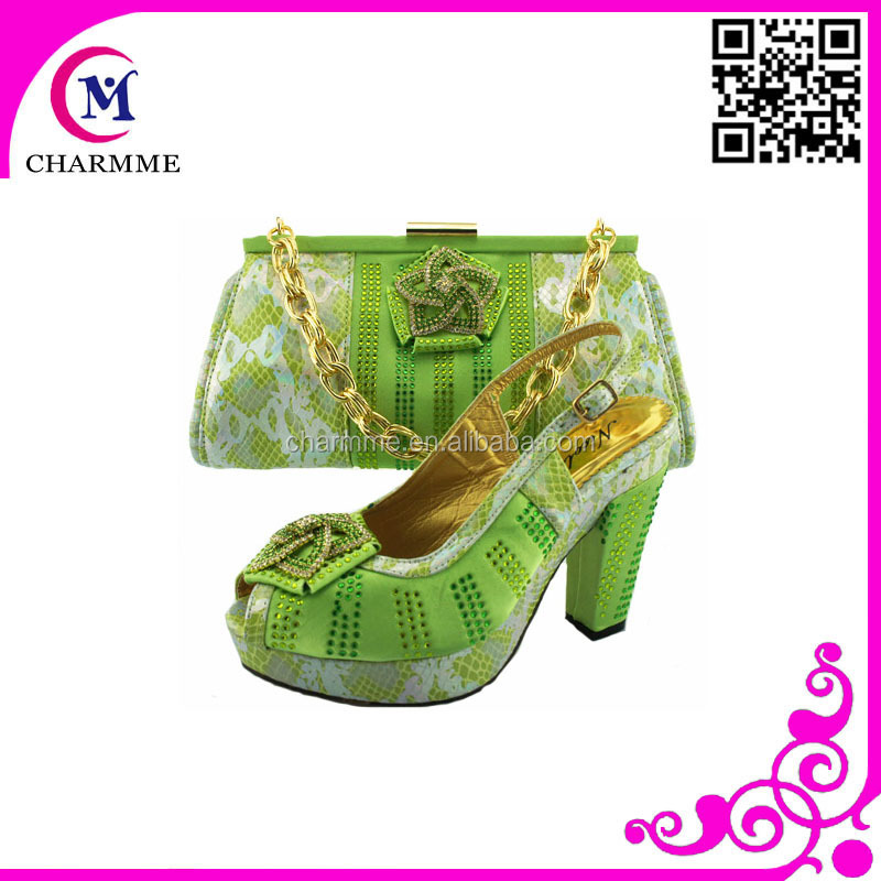 Light and bag big for shoes green wedding and party CHCzrB7