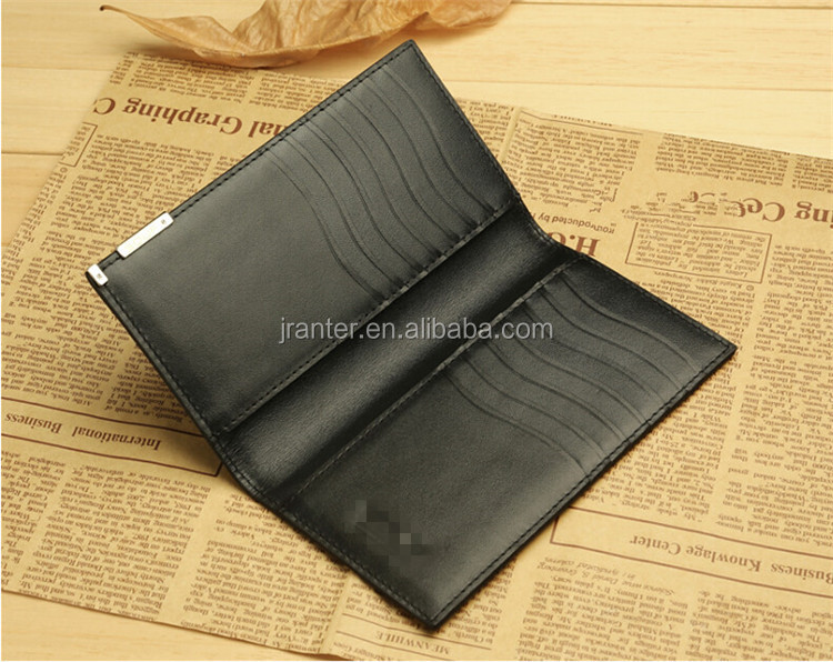 Super thin Genuine cowhide Leather business card holder