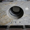 Granite kitchen island table top inlay dining