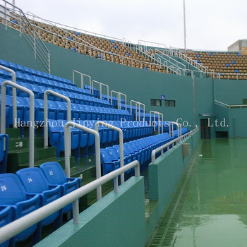 Tennis Court Foldable Plastic Armrest Stadium Chairs VIP Seating