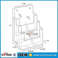 3 Pockets Wall Mount Plastic Acrylic Brochure Holder A4 A5 A6