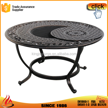 Garden Supplier Outdoor Cast Aluminum Top Wood Burning Fire Pit Table   Buy  Fire Pit Table,Wood Burning Fire Pit Table,Cast Aluminum Top Wood Burning  ...