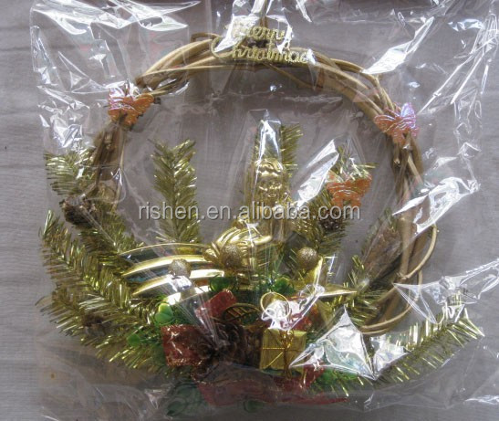 2015 New Designs Natural Wooden Curl Spring Wreath Decoration