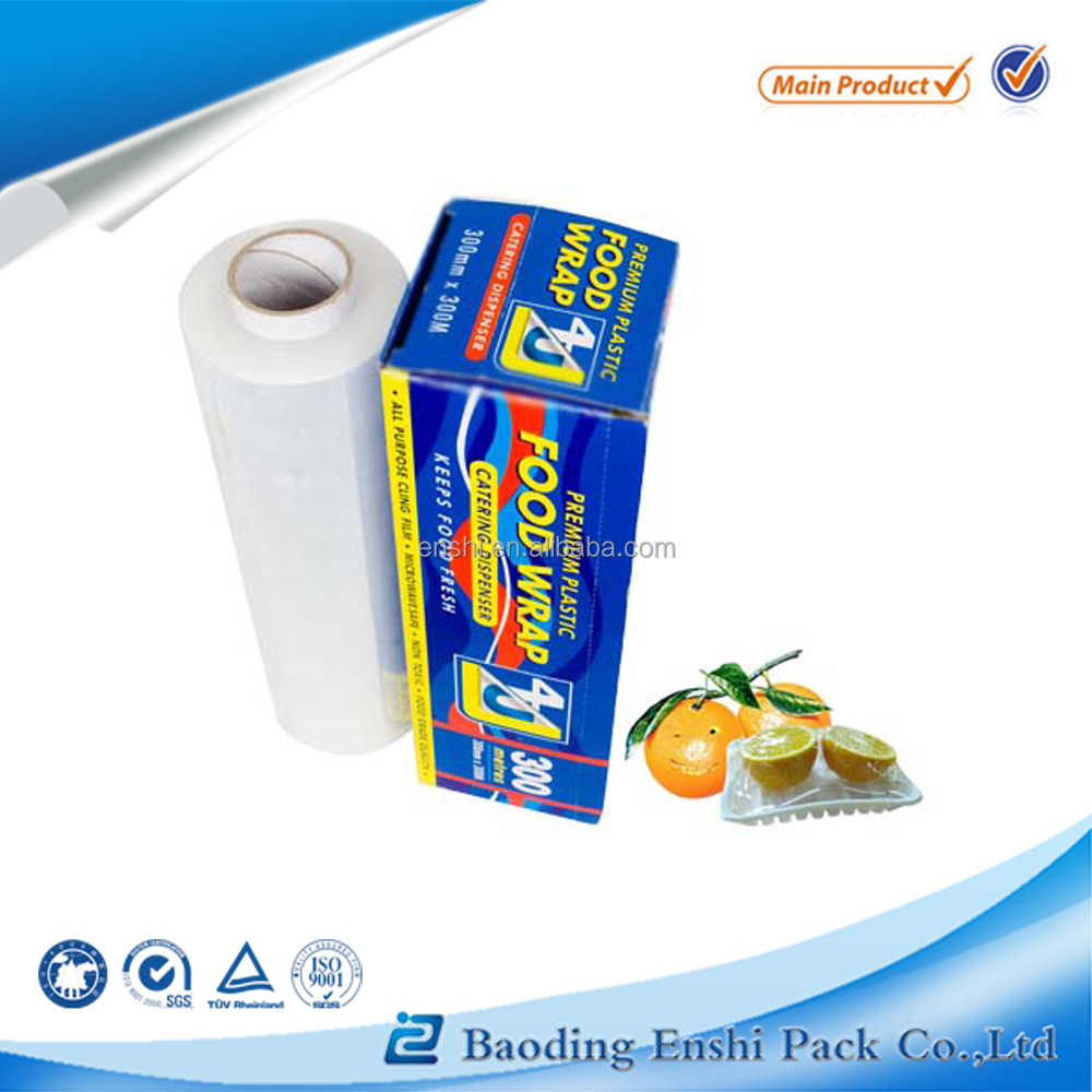 anti fog transparent surface protection pe cling film for food grade