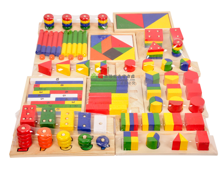 Educational Toys Product : Montessori teaching kids educational pcs sets wooden