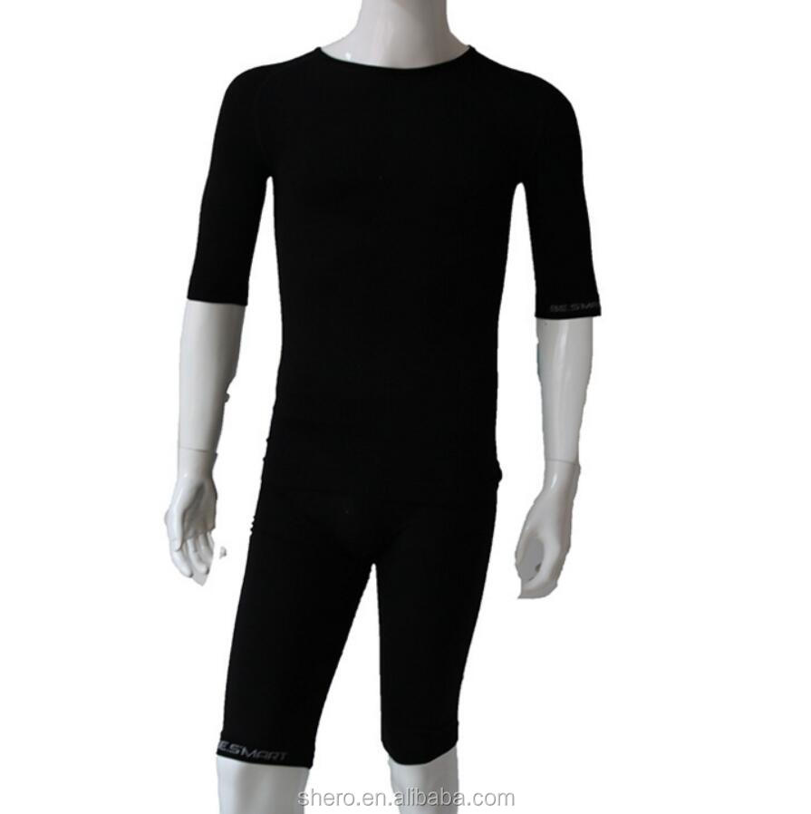 EMS seamless breathable anti-micro quick dry Lyocell Polyamied Elastan training suit jogging suit for <strong>sport</strong>