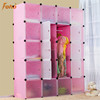 Hottest diy plastic 16 cubes colonial wardrobe for family FH-AL0061-20
