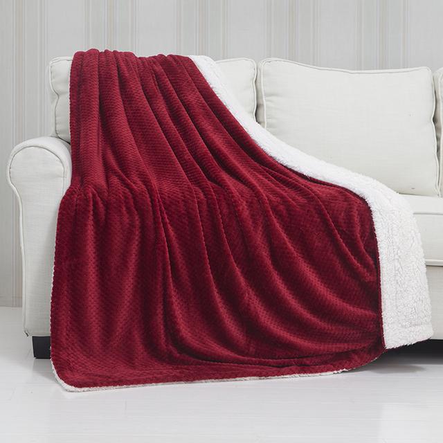 Custom baby security blanket cheap rose color fleece blankets comfortable  micro fiber fleece fabric