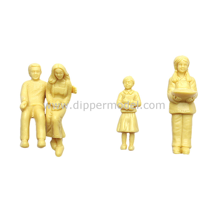 1:25,1:30 scale plastic indoor yellow architectural model human figures