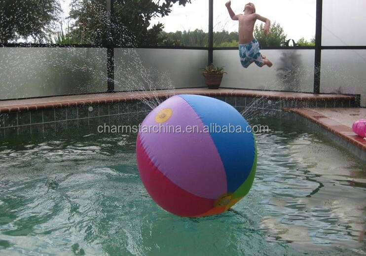 New Outdoor Party Kids Water Toys Big Inflatable Jumbo Beach Ball/inflatable  Sprinkler Ball