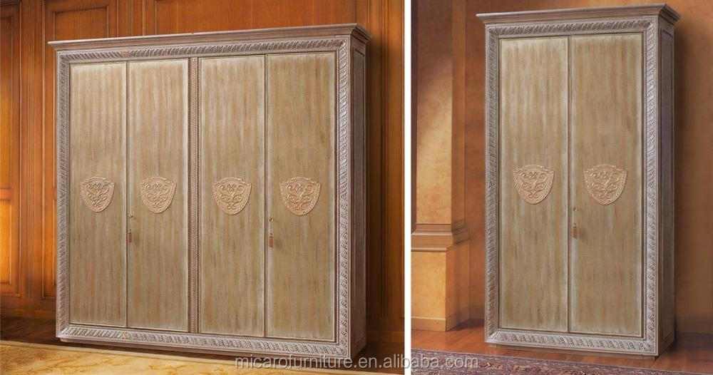 Hecho En China Madera Antigua Real Muebles Armario Con 4 Puertas O 6 ...