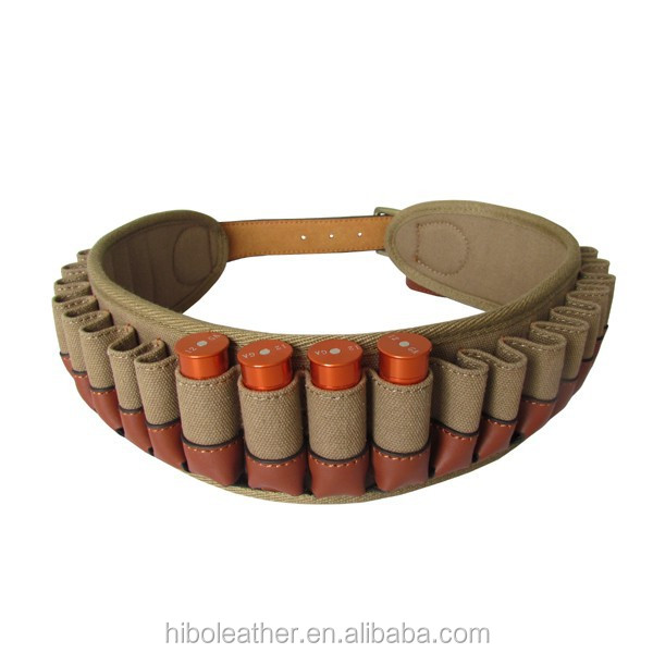 Sincere Real Leather Rifle Ammo Shell Cartridge Belt Holder Holds 5 Rounds Brown New Ammunition Belts & Bandoliers Sporting Goods
