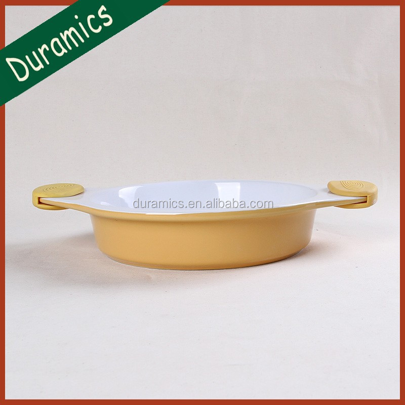 Promotional silicone handle roast dish and baking dishes,bakeware
