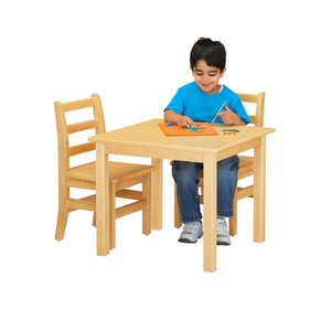 Hot Selling Montessori Furniture Model Toddler Studying And Playing Table Sets And Chair Solid Wooden With Hot Sell