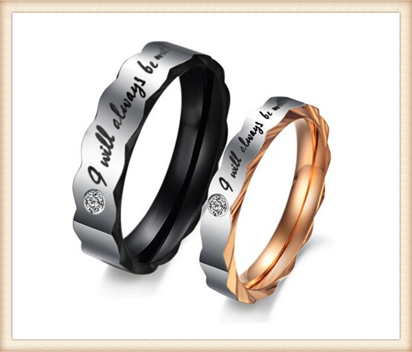 Guangzhou jewelry supplier wholesale custom engraved couple rings