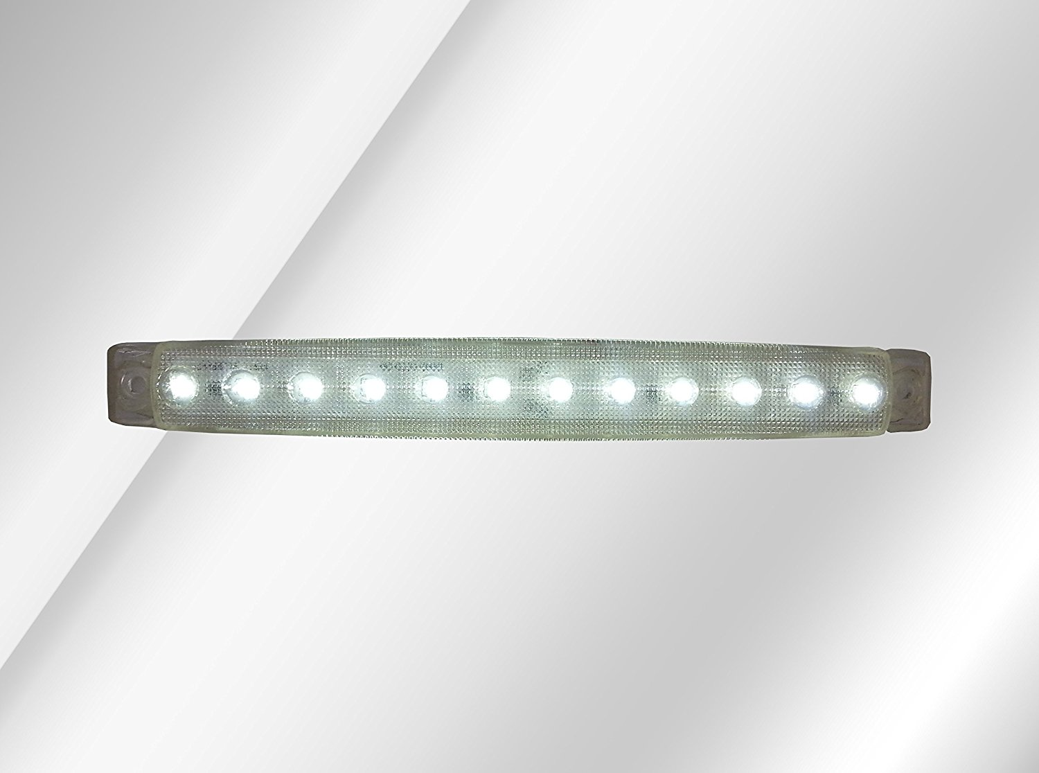 flexzon 1 X 12V LED White Clear Side Front Marker Light Truck Trailer Lorry Man Daf Scania Iveco Volvo
