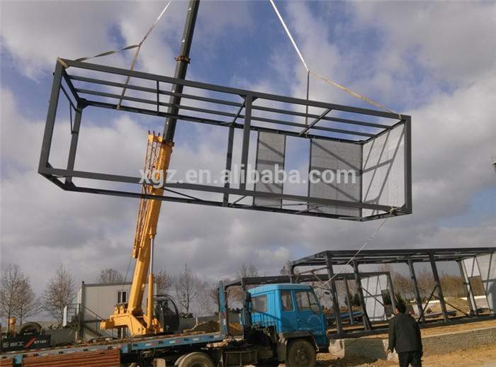 Prefab steel frame multi storey office building buy for Structure container maritime