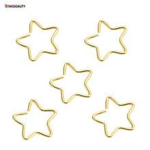 5 шт./лот, серьги в виде сердца и звезд, пирсинг спираль пирсинга хрящей, поддельное кольцо для носа, кольцо для пирсинга(China)