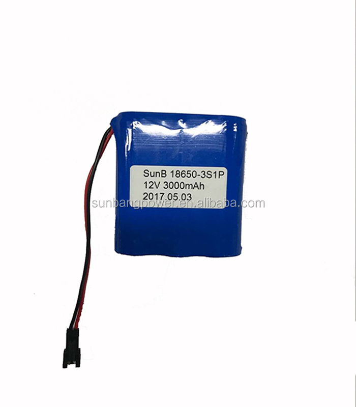 Hot products 2200mah 2500mah 2600mah 3000mah li-ion battery 12v 18650 battery pack with brand cells