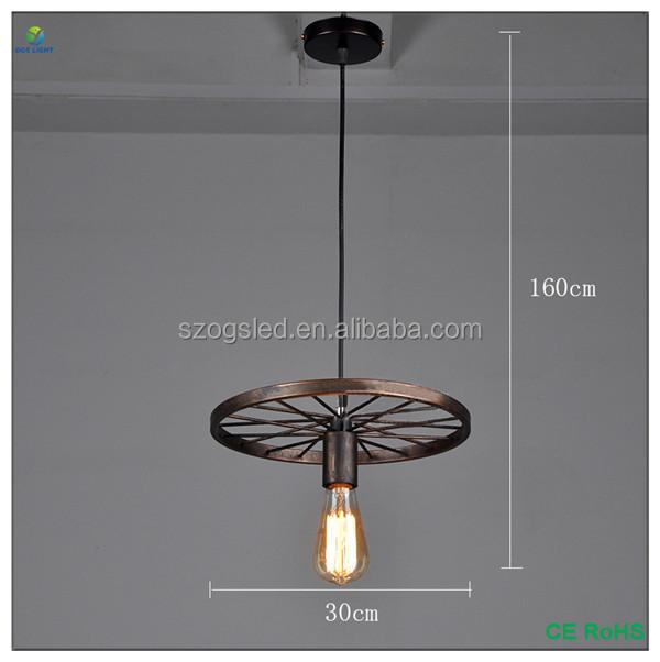 China Wholesale Retro Home Decor Black / Rusty Iron Chandelier , Factory  Filament Bare Bulb E27