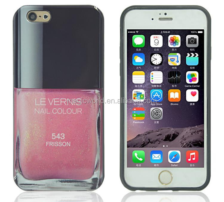 IMD tpu nail polish cover for iphone 7 cases