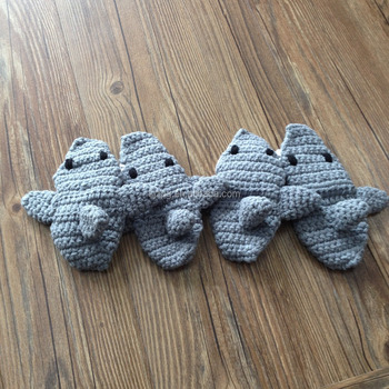 Factory Newborn Baby Crochet Shark Slipper Socks Shoes Buy Crochet