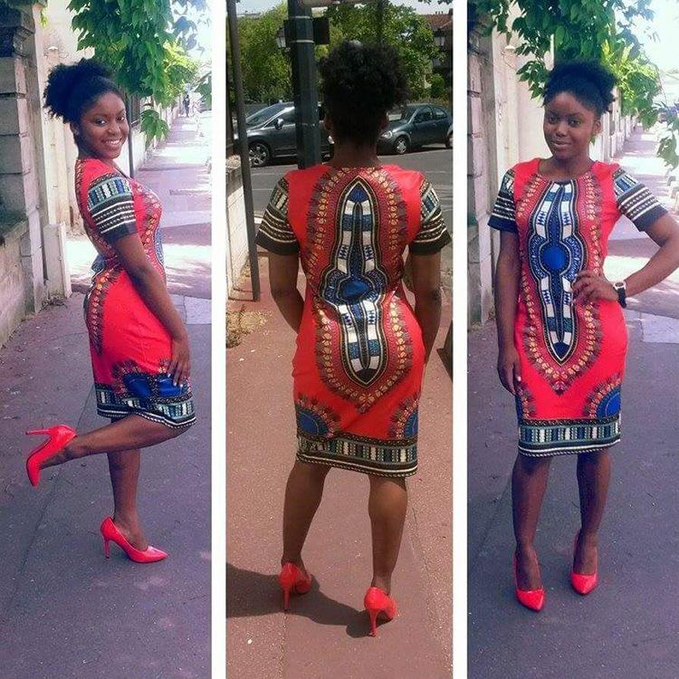 a2d7f6bb868 Short-sleeves Bohemian Summer Dress Woman Traditional African Print Dashiki  Bodycon Dress