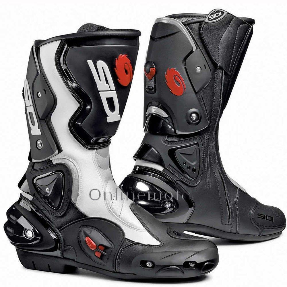 Get quotations · sidi vertigo evo black white motorcycle boot