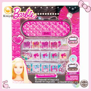 Barbie Fashion Girl Portable Cosmetic Mirror Case Makeup Kit Set ...
