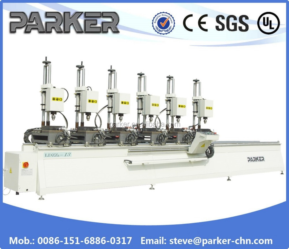 MAKING <strong>HOLES</strong> ALU WINDOW Drilling Machine curtain wall drilling machine
