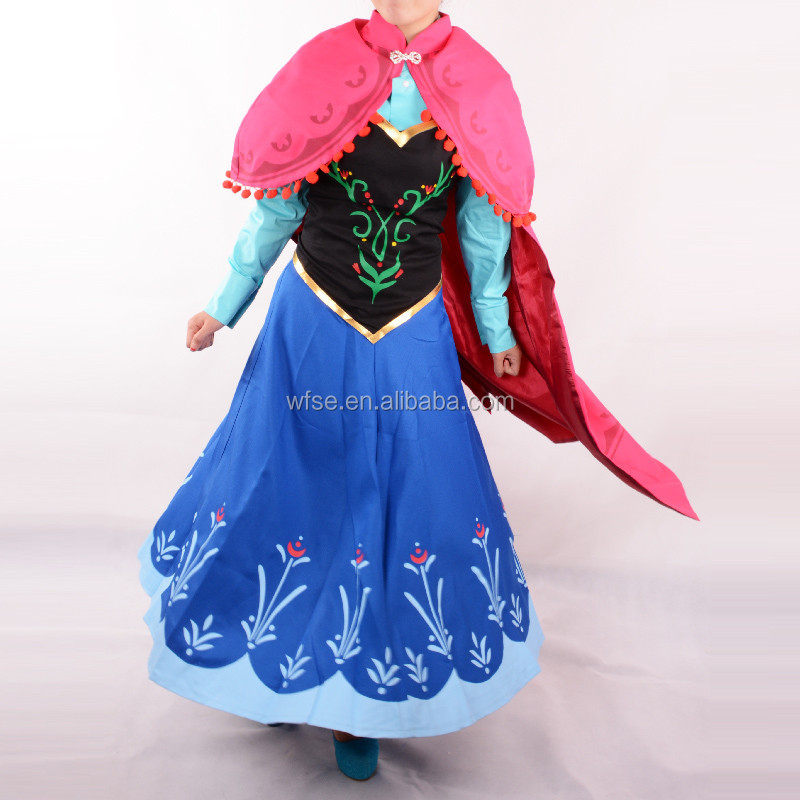 moive frozen princess anna costume women adult anna dress cosplay party halloween costumes for women - Halloween Anna Costume