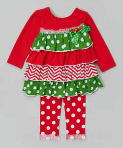 High Quality with Lovely Design Infant &Toddler festival clothing set ruffle T-shirt Cotton Autumn/Winter Outfits
