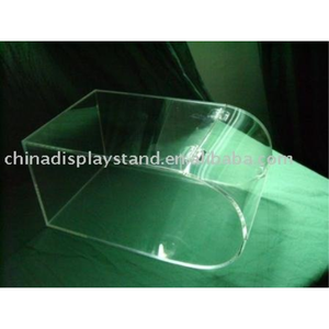 Acrylic bulk candy/food round faced/curved bin