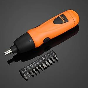 Cordless 6V Electric Screwdriver Drill + 11pcs Screwdriver Bit Set / . : . . . Cordless 6V Electric Screwdriver Drill + 11pcs Screwdriver Bit Set . . This screwdriver set includes 1