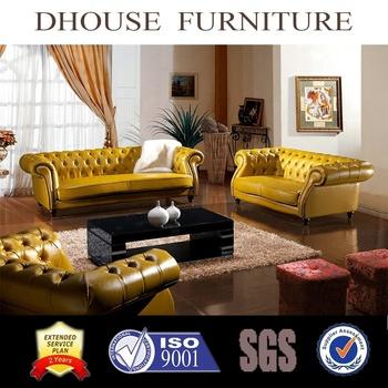 Genuine Leather Sofa Vintage