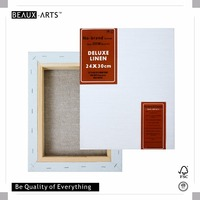 24x30CM 500g Deluxe Linen Stretched Canvas Printing with 3.8*3.8CM(3D Deep profile) Pine wood, Large Primed Cotton Canvas Art
