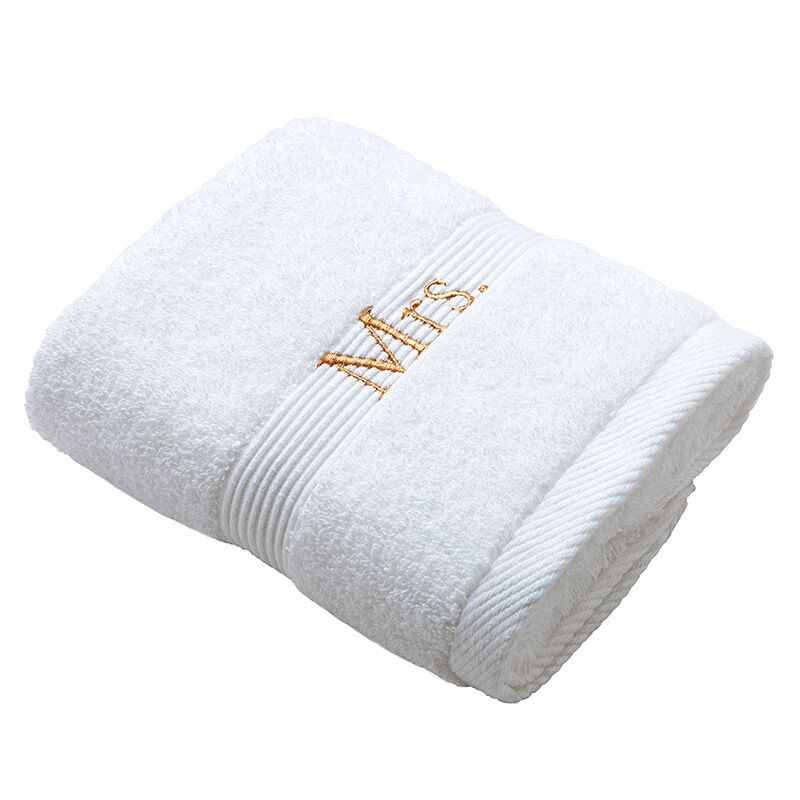 100% cotton Hotel towel with custom logo embroidered