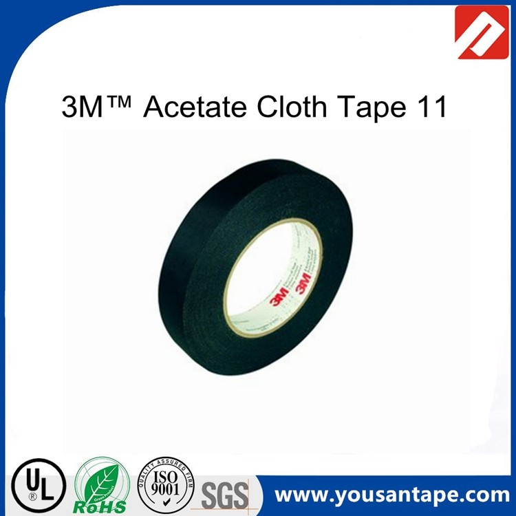 Very strong bonding black rubber lead acetate cloth adhesive tape yousan factory