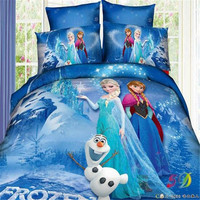 European fashion hot kids children princess baby Frozen Ice twin size queen size cartoon bed sheets sets