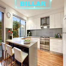 Apartment project modern kitchen with free cabinet designs