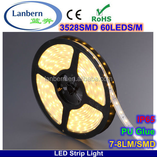 Products you can import from China wholesale PU glue IP65 4.8w 60leds/m 12v 3528 <strong>rgb</strong> 5050/5060 smd led strip light CE&ROHS