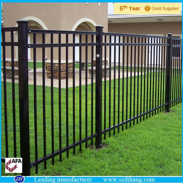 Aluminum fence panels powder coated