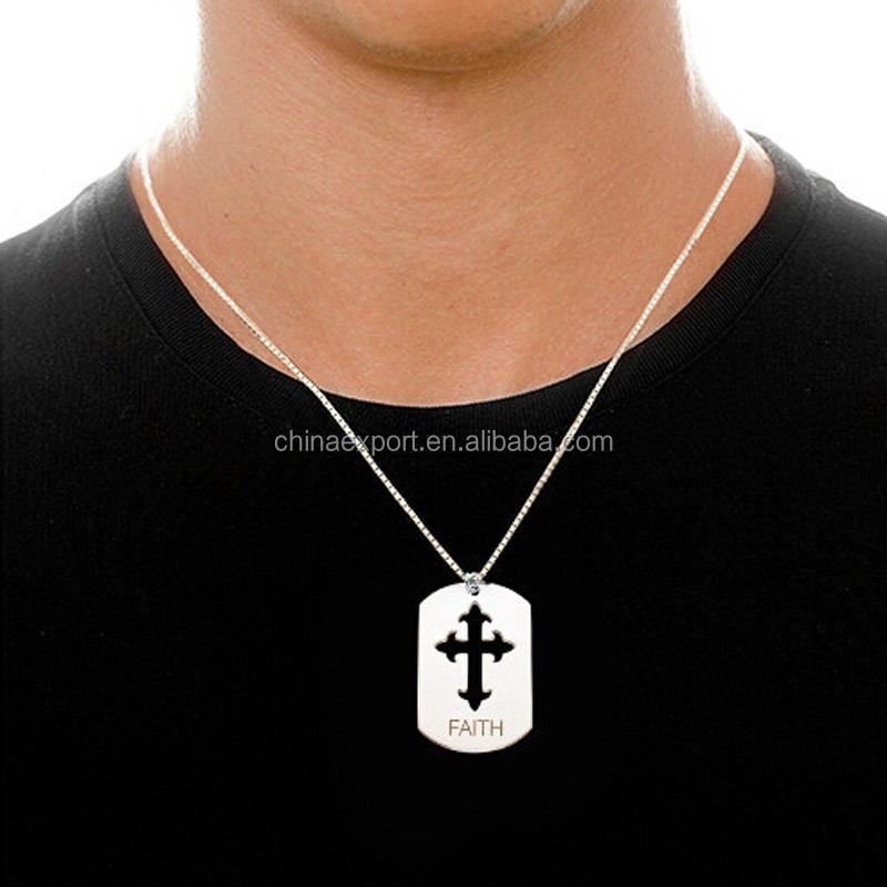 Mens Stainless Steel Star of David Necklace Pendant