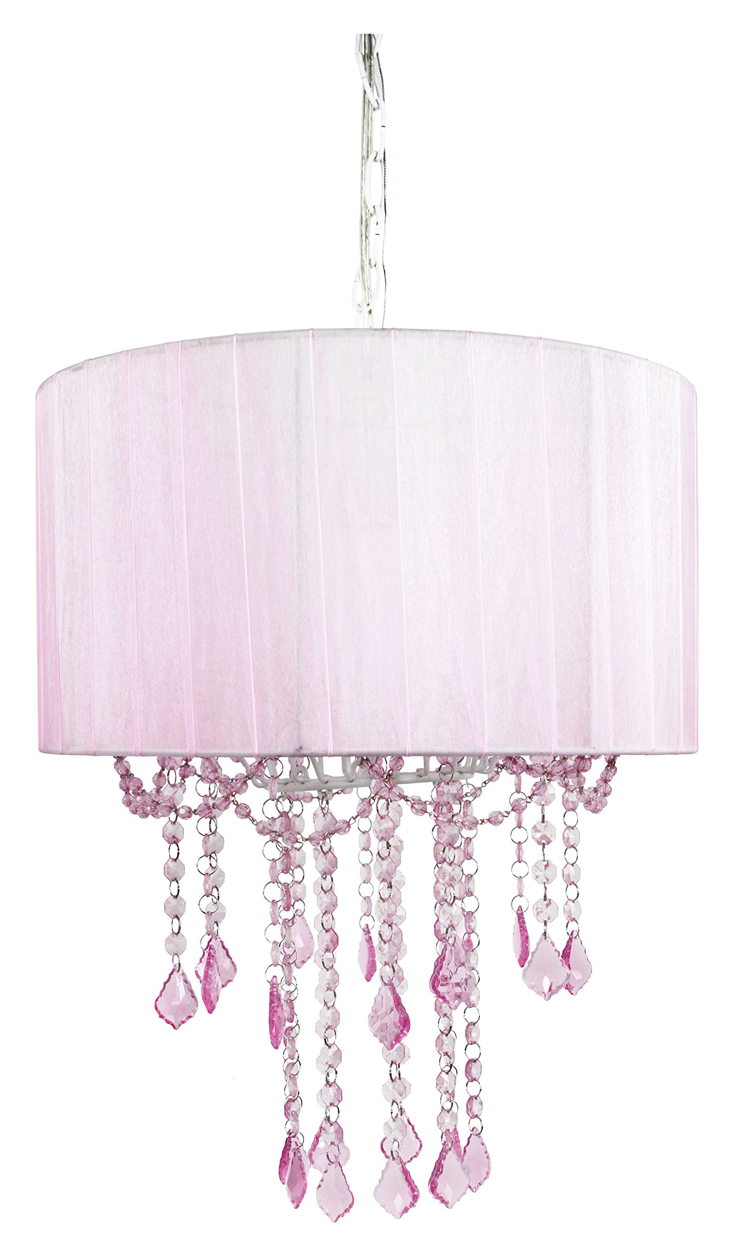 Cheap pink mini chandelier find pink mini chandelier deals on line get quotations tadpoles one bulb shaded chandelier pink arubaitofo Gallery