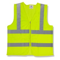 High visibility customized logo green kids safety vest