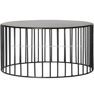 bout de canap m tal noir ann es 50. Black Bedroom Furniture Sets. Home Design Ideas