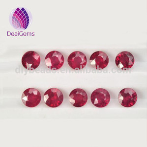 Top quality Round Natural Ruby and Flawless ruby 6mm*6mm for Inlaid ring